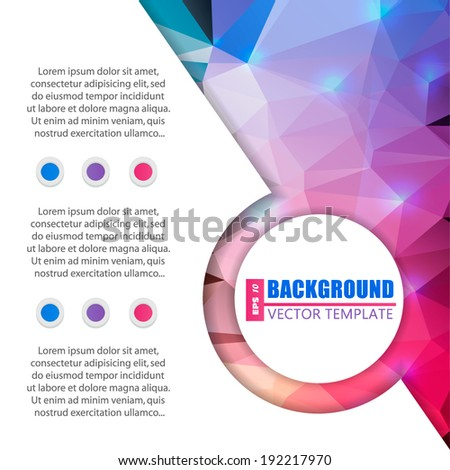 Abstract Creative concept vector background for Web and Mobile Applications, Illustration template design, business infographic, page, brochure, banner, presentation, poster, cover, booklet, document. - stock vector
