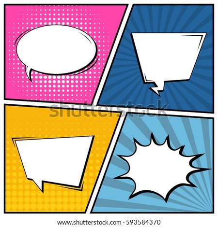 Abstract creative concept vector comic pop stock vector 593584370 abstract creative concept vector comic pop art style blank layout template with clouds beams and toneelgroepblik Gallery