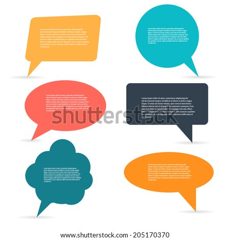 Abstract Creative concept vector empty speech bubbles set. For web and mobile applications isolated on background, illustration template design, presentation, business infographic and social media, - stock vector