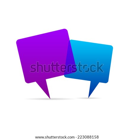 Abstract Creative concept vector empty speech bubbles set. For web and mobile applications isolated on background, illustration template design, presentation, business infographic and social media. - stock vector