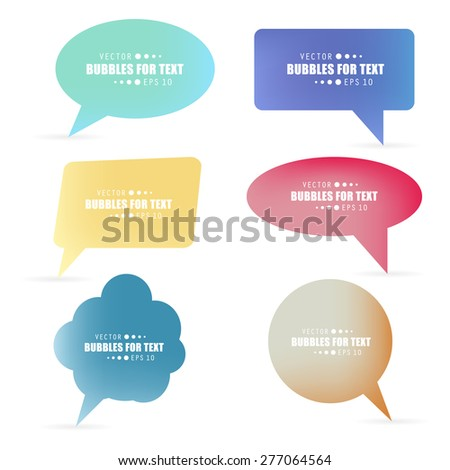 Abstract Creative concept vector empty speech bubbles set. For web and mobile applications isolated on background, illustration template design, presentation, business infographic and social media.