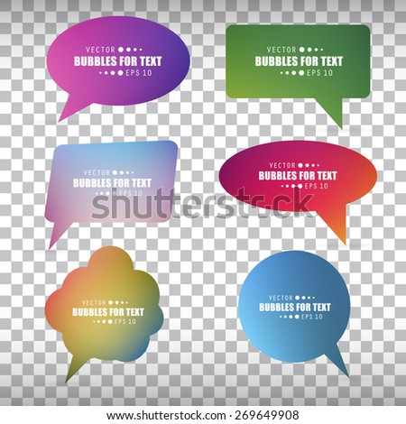 Abstract Creative concept vector empty speech bubbles set. For web, mobile applications isolated on background, art illustration template design, presentation, business infographic and social media.