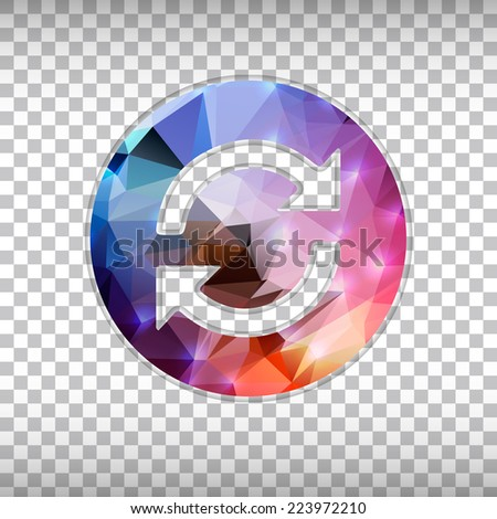 Abstract Creative concept vector icon of arrows for Web and Mobile Applications isolated on background. Vector illustration template design, Business infographic and social media, origami icons. - stock vector