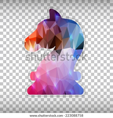 Abstract Creative concept vector icon of chess knight scales for Web and Mobile Applications isolated on background. Vector illustration template design, Business infographic and social media, icons.  - stock vector