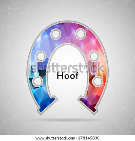Abstract Creative concept vector icon of hoof for Web and Mobile Applications isolated on background. Vector illustration template design, Business infographic and social media, origami icons. - stock vector