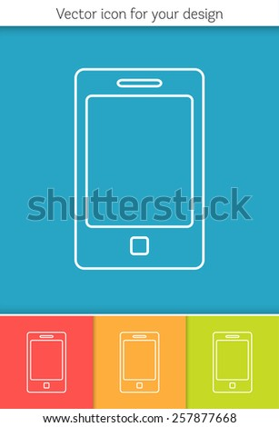 Abstract Creative concept vector icon of smart phone for Web and Mobile Applications isolated on background. Vector illustration template design, Business infographic and social media, origami icons.  - stock vector