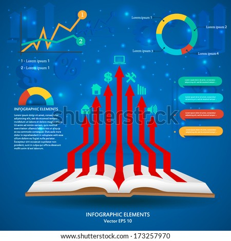Abstract Creative concept vector infographics for Web and Mobile Applications isolated on background. Vector illustration template design, Business infographic and social media, icons. - stock vector
