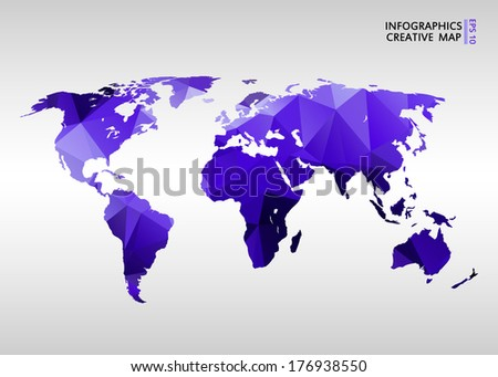 World map world map concept vectores en stock 185760122 shutterstock abstract creative concept vector map of the world for web and mobile applications isolated on background gumiabroncs Choice Image