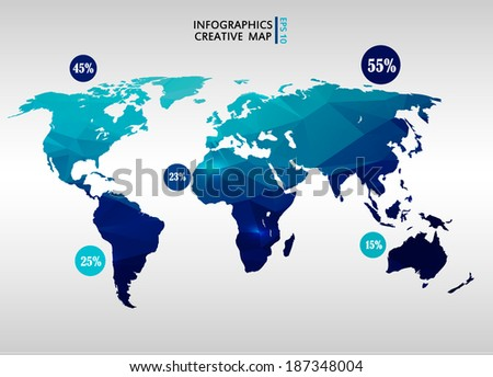 World map background polygonal style vector vectores en stock abstract creative concept vector map of the world for web and mobile applications isolated on background gumiabroncs Image collections