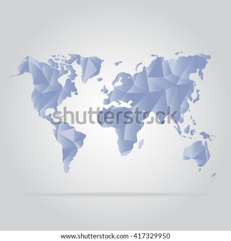 Abstract creative concept vector map of the world , Purple color
