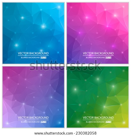 Abstract Creative concept vector origami triangle background set. For Web and Mobile Applications, art illustration template design, business infographic and social media, modern decoration. - stock vector