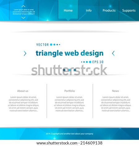 Abstract Creative concept vector website template. For modern web and mobile Applications isolated on background, interface, illustration design, business infographic and social multimedia icon. - stock vector