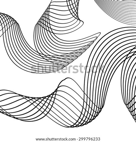 abstract creative line wave design on stock vector royalty free rh shutterstock com Wave Outline Clip Art Wave Border Clip Art