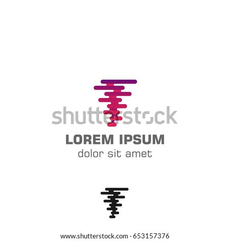 Abstract Creative Tech Tornado Vector Logo Stock Vector 653157376 ...