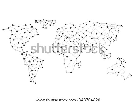 Abstract creative World map, Connection concept. Vector illustration - stock vector