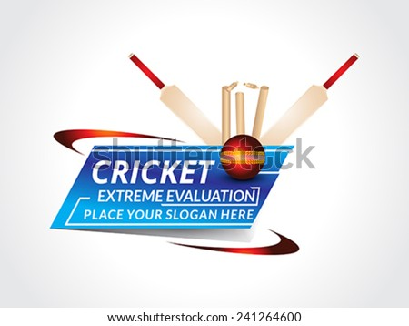 abstract cricket background with bat vector illustration  - stock vector