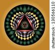 Abstract crop circle geometric design - stock vector