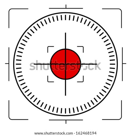 Abstract crosshair - stock vector