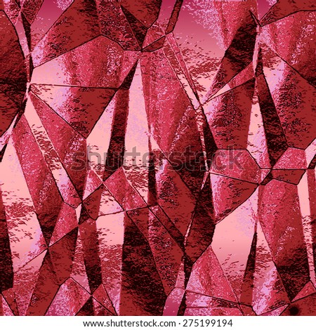 Abstract crumpled background with metal red foil