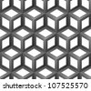 abstract cubes seamless pattern - stock photo