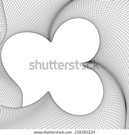 Abstract Curved Lines Background Vector 01 - stock vector