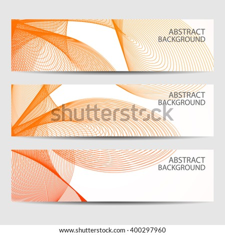 Abstract curved lines on bright background. Vector illustration - stock vector