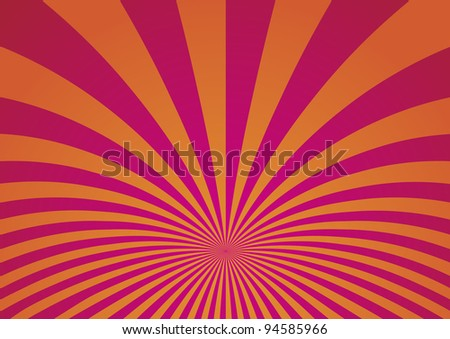Abstract Curved Stripes Background - Vector Illustration - stock vector