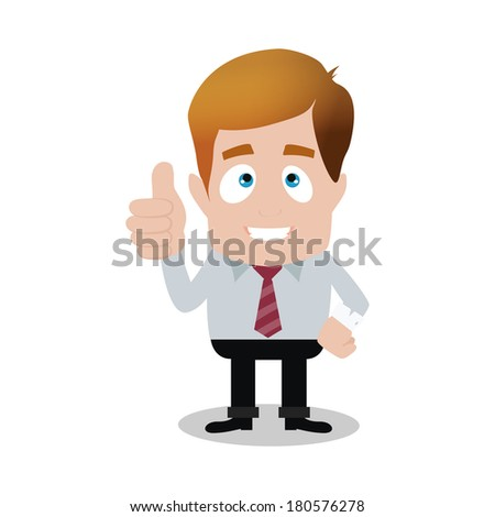 abstract cute businessman on a white background