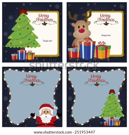 abstract cute christmas background with some special objects