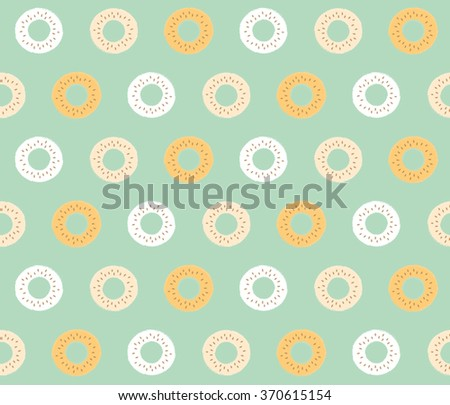 Abstract cute color donuts background design pattern, seamless, wallpaper. Vector image, vector art, vector design, vector illustration - stock vector