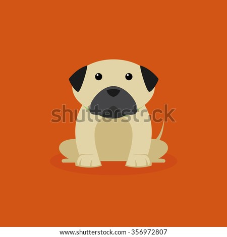 abstract cute dog on a special background