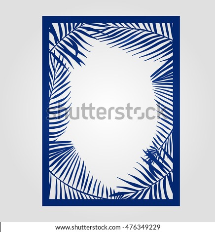 Abstract cutout panel laser cutting vector stock vector 476349229 abstract cutout panel for laser cutting vector filigree pattern for wedding invitation card stopboris Images