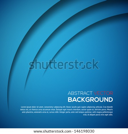 Abstract 3D background blue colour - stock vector