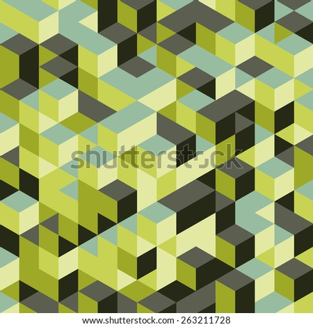 Abstract 3d background. Wall of cubes. Vector illustration.  - stock vector