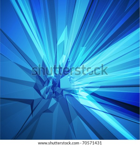 Abstract 3d blue technology lines vector background. Eps 10.