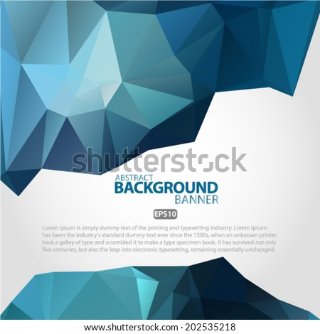 Abstract 3D blue vector geometric colorful background Vector EPS 10 illustration.