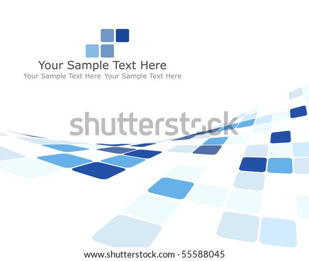 Abstract 3d checked  business background for use in web design - stock vector