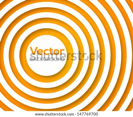 Abstract 3d circle background. Vector illustration. - stock vector