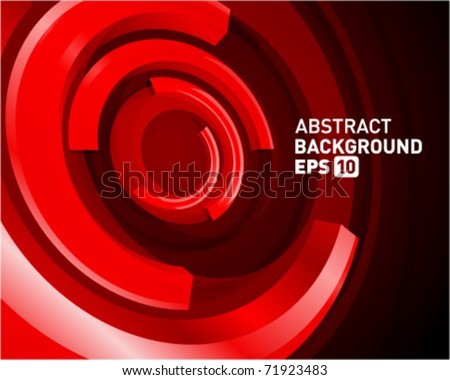 Abstract 3d circle bend lines vector backgound. Eps 10. - stock vector