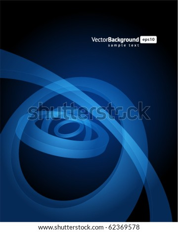 Abstract 3d circles in perspective vector background. Eps 10 - stock vector