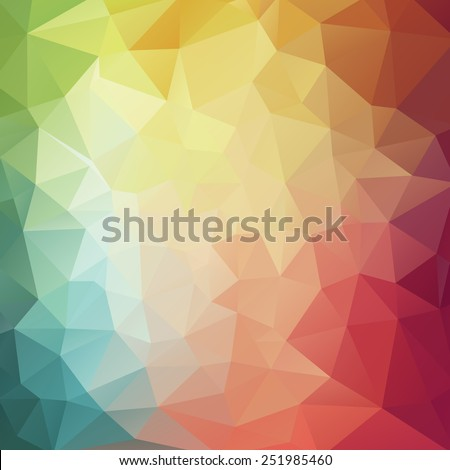 Abstract 2D Colorful geometric background - Illustration - stock vector