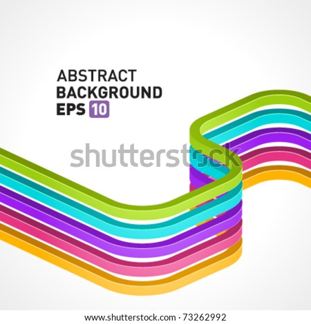 Abstract 3d colorful lines vector background. Eps 10 - stock vector