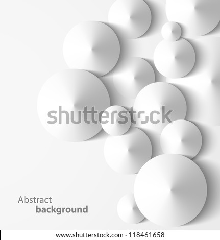 Abstract 3D cone geometrical background. Vector illustration - stock vector