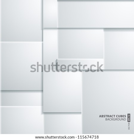 abstract 3D cubes background design - stock vector