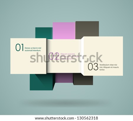 Abstract 3d cubes background, EPS10 vector - stock vector