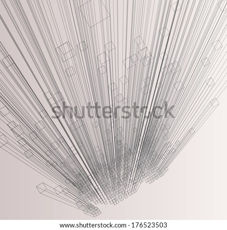 Abstract 3d cubes vector background.