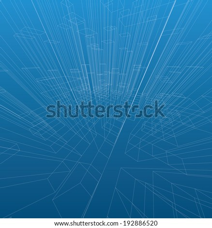 Abstract 3D cubes vector background. - stock vector