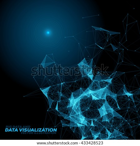 Abstract 3D Data Visualization Background with Connecting Dots and Lines | EPS10 Vector Illustration