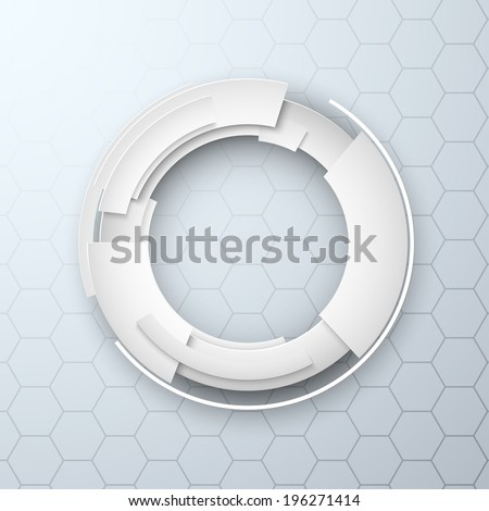 Abstract 3d design technology background paper style - stock vector
