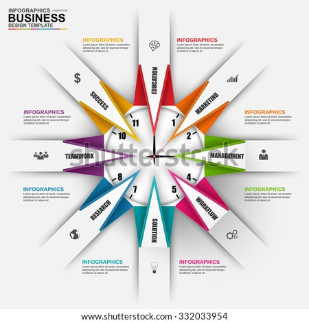 Abstract 3D digital business Infographic. Can be used for workflow processes, banner, origami diagram, number options, business chart, work planning, web design. - stock vector